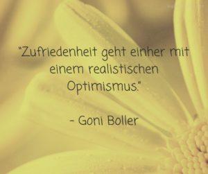 Zufriedenheit geht einher mit einem realistischen Optimismus